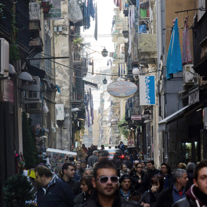 Travel photo by Conegliano, Italy-based photographer Colin Dutton of a busy city street.