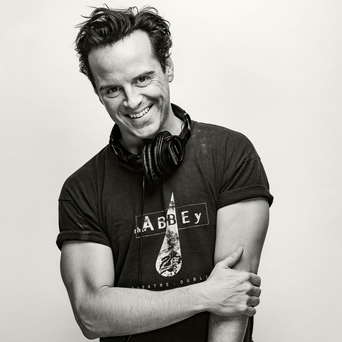 Celebrity portraiture photo by West Sussex, United Kingdom-based photographer James Hole of Andrew Scott for Penguin Books.