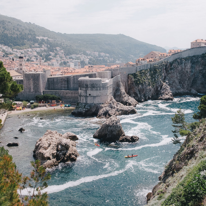 Travel photo by Tirana, Albania-based photographer Nick St. Oegger  of a river with kayakers.