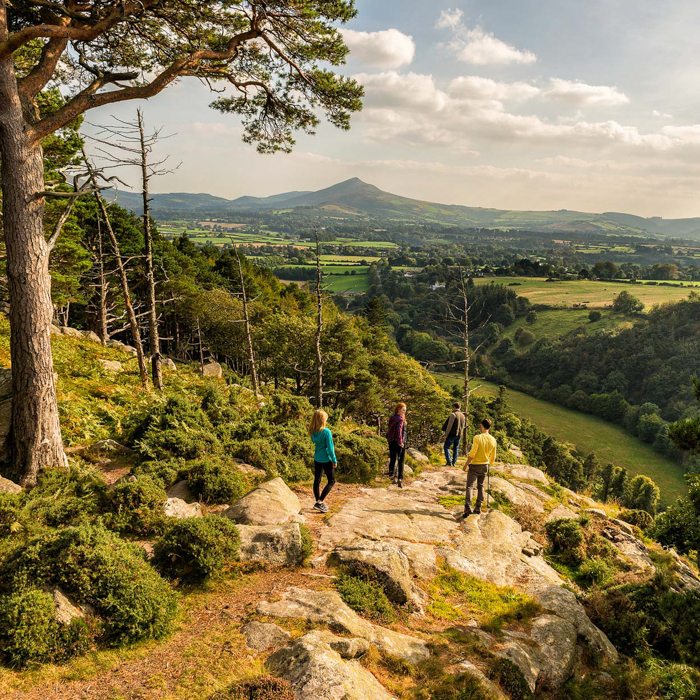 Travel photo by Belfast, United Kingdom based photographer Rob Durston of hikers in an Irish landscape.