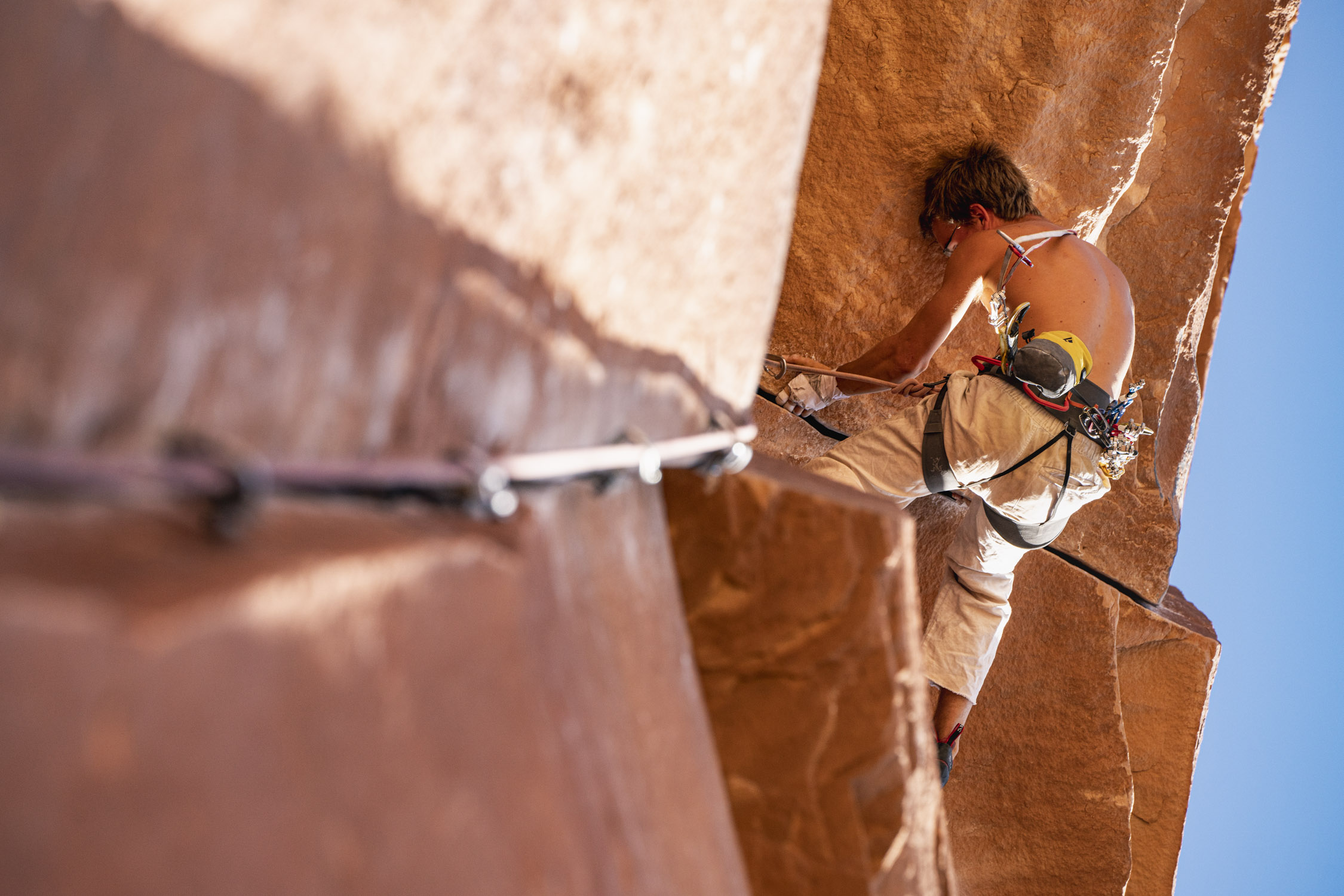 Dalton Johnson photographs climbing in Moab for Gregory Packs and Coalatree