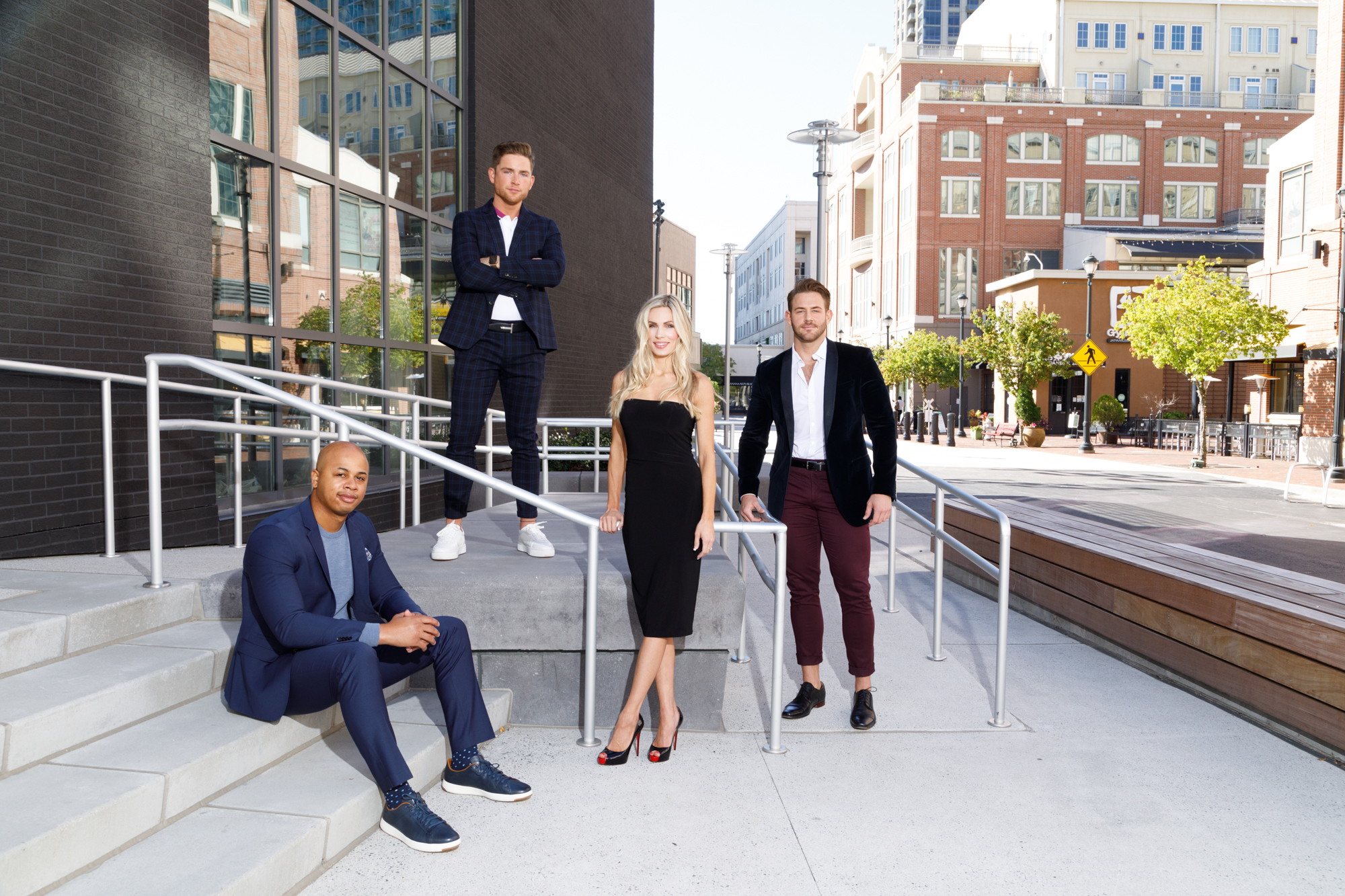 Patrick Heagney photographs the fifty most beautiful Atlantans for Jezebel Magazines yearly feature on the steps of Atlantic Station
