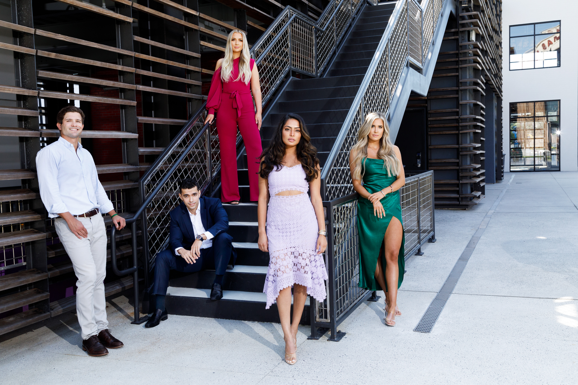 Patrick Heagney photographs the fifty most beautiful Atlantans lounging on the stairs for Jezebel Magazines yearly feature at Atlantic Station