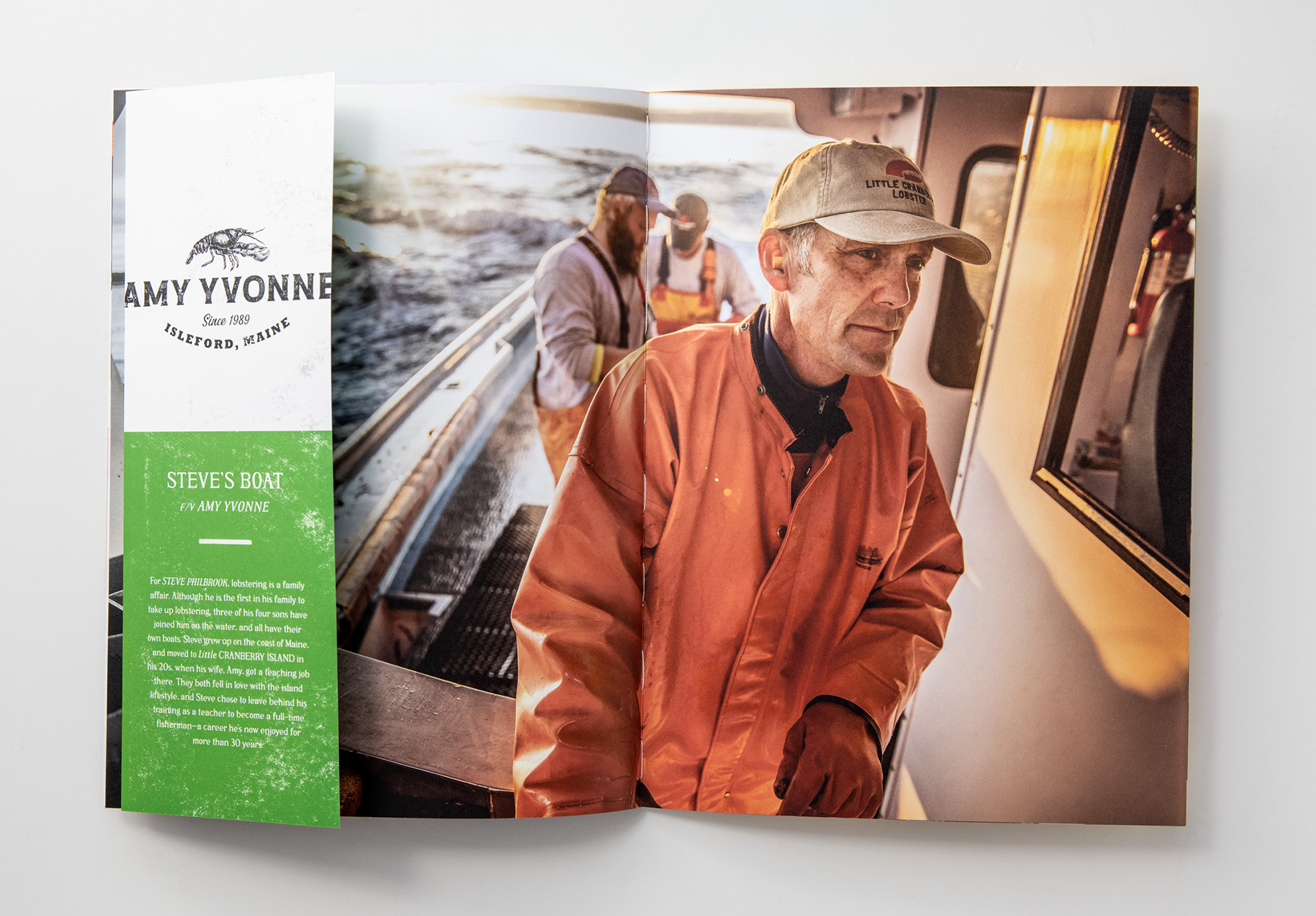 Tadd Myers released promo booklet of the Lobstermen of Little Cranberry Island featuring Steve