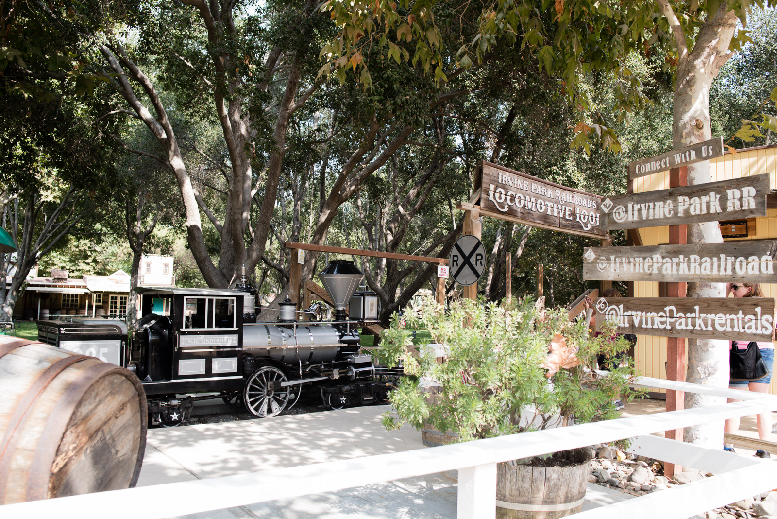 Tiffany Luong photographs Irvine Park Railroad for Westways