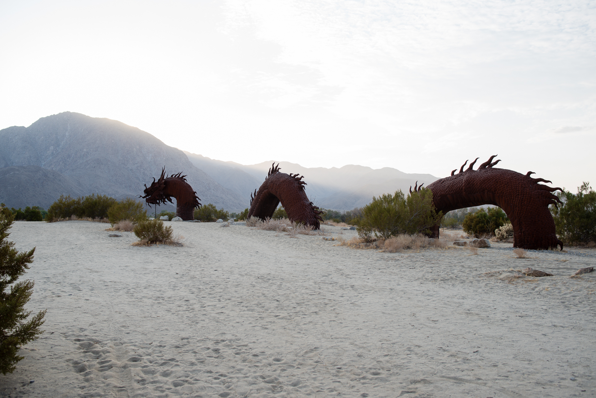 Tiffany Luong photographs Ricardo Brecedas giant serpent sculpture in the desert for Westways